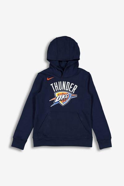 64ee4d889 Nike Kids Oklahoma City Thunder Logo Essential Pull Over Hood Navy