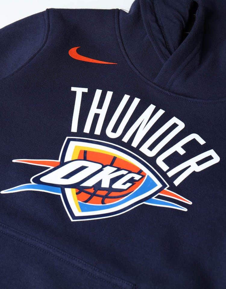 bab1cfc7c47 Nike Kids Oklahoma City Thunder Logo Essential Pull Over Hood Navy ...