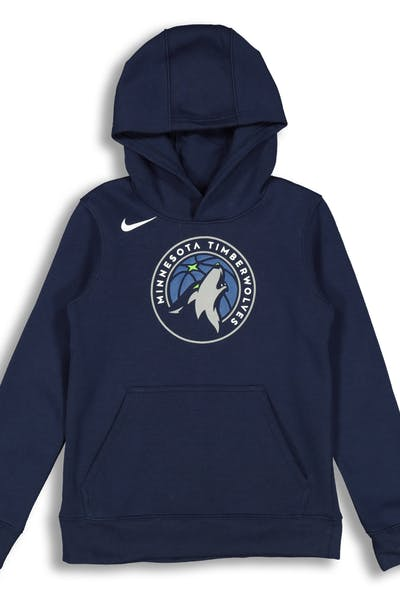 Nike Kids Minnesota Timberwolves Logo Essential Pull Over Hood Navy