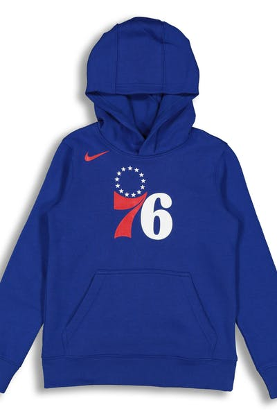 NIKE KIDS Philadelphia 76ers LOGO ESSENTIAL PULL OVER HOOD Blue
