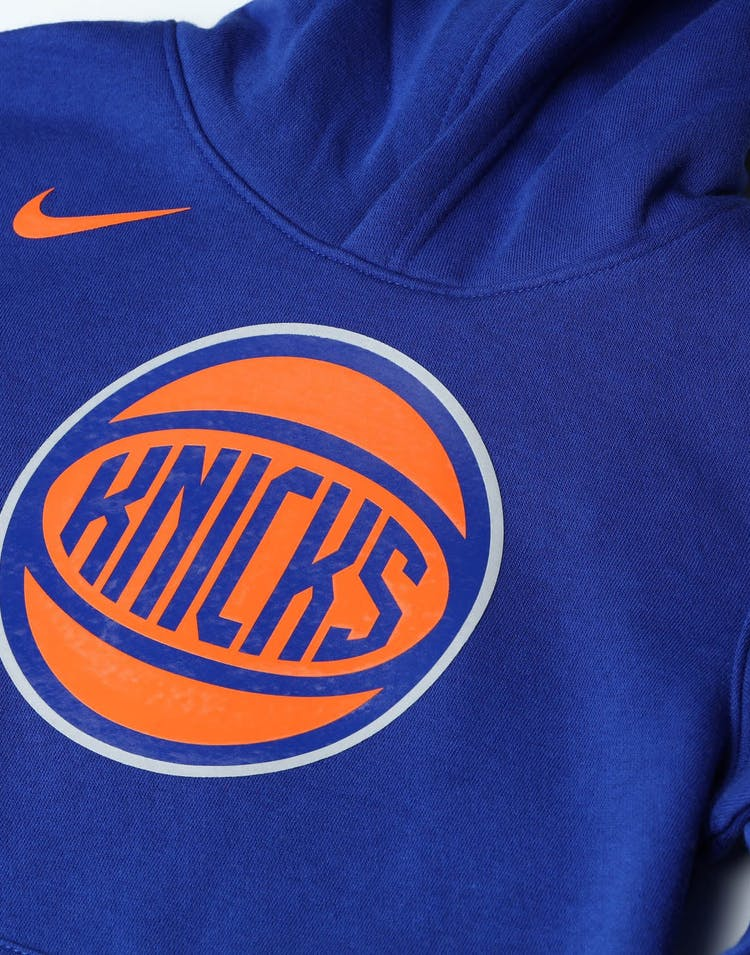 Nike Kids New York Knicks Logo Essential Pull Over Hood Royal