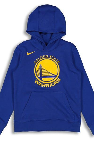 1c1bdf5464c Nike Kids Golden State Warriors Logo Essential Pull Over Hood Royal