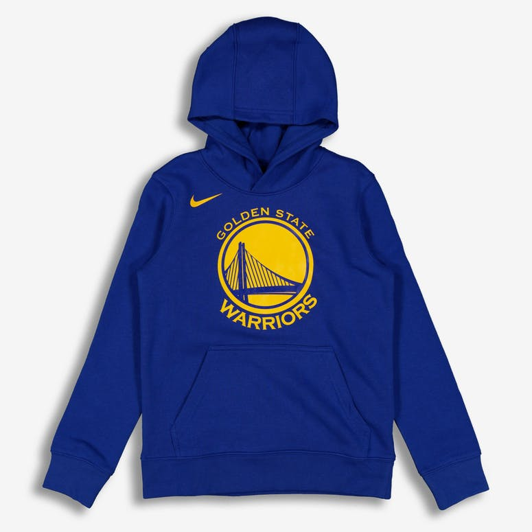 45d6fb91f Nike Kids Golden State Warriors Logo Essential Pull Over Hood Royal –  Culture Kings