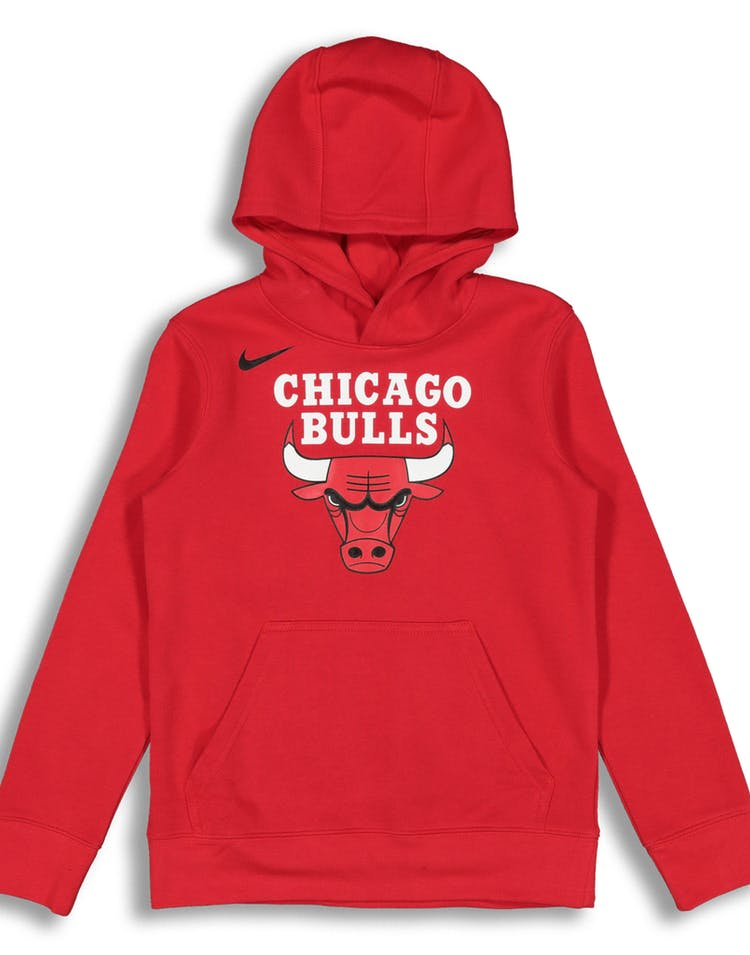 c07a8357dfd NIKE KIDS Chicago Bulls LOGO ESSENTIAL PULL OVER HOOD Red – Culture ...