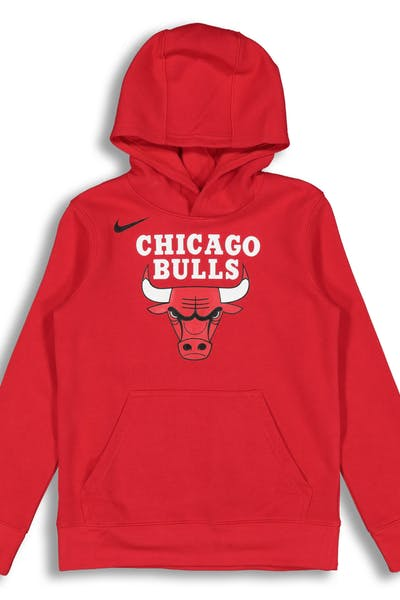 NIKE KIDS Chicago Bulls LOGO ESSENTIAL PULL OVER HOOD Red