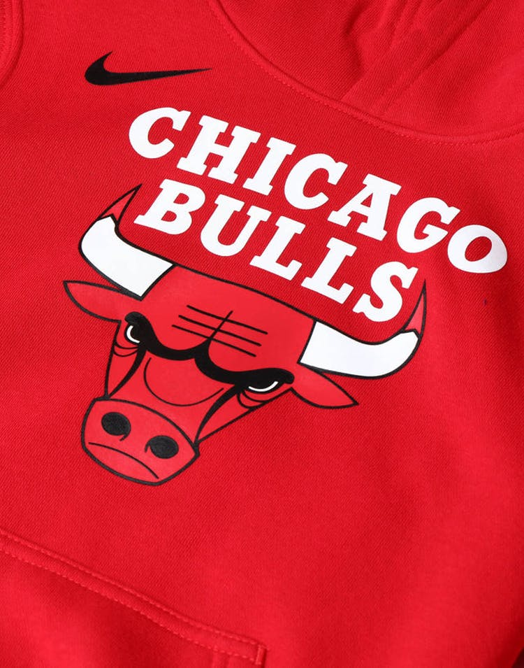 los angeles 7d24f 5fe75 NIKE KIDS Chicago Bulls LOGO ESSENTIAL PULL OVER HOOD Red