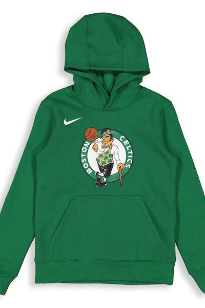 Nike Kids Boston Celtics Logo Essential Pull Over Hood Green