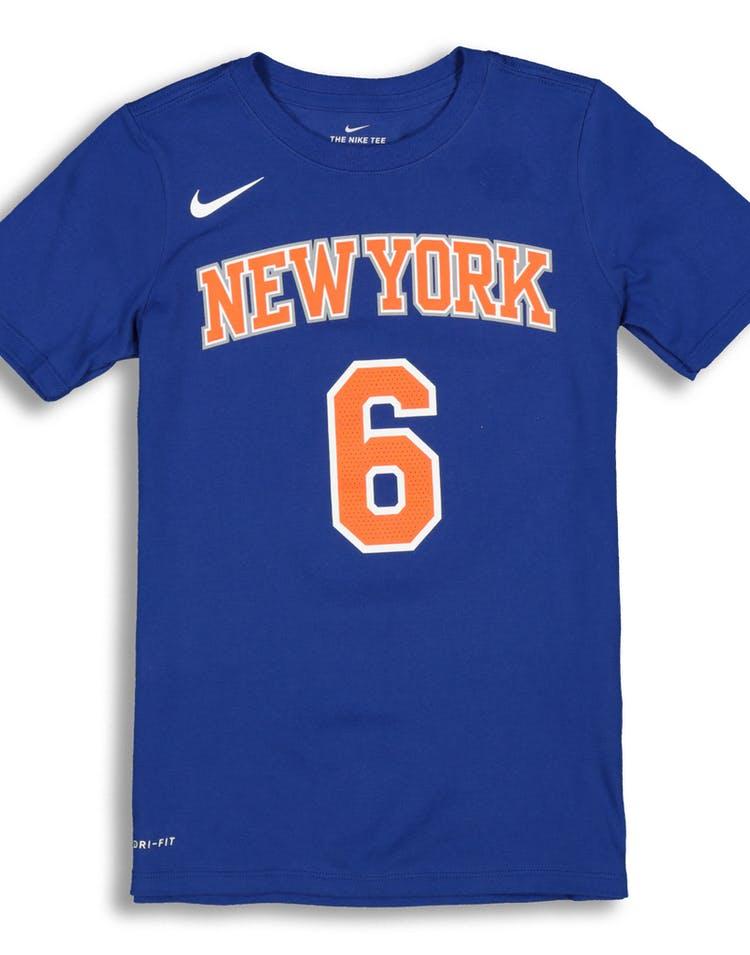 512b3bad Nike Boys New York Knicks Kristaps Porziņģis #6 Icon N&N Tee Royal –  Culture Kings