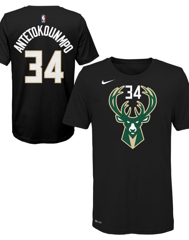 2c3f41818d7 Nike Boys Milwaukee Bucks Giannis Antetokounmpo  34 Statement N N Tee –  Culture Kings