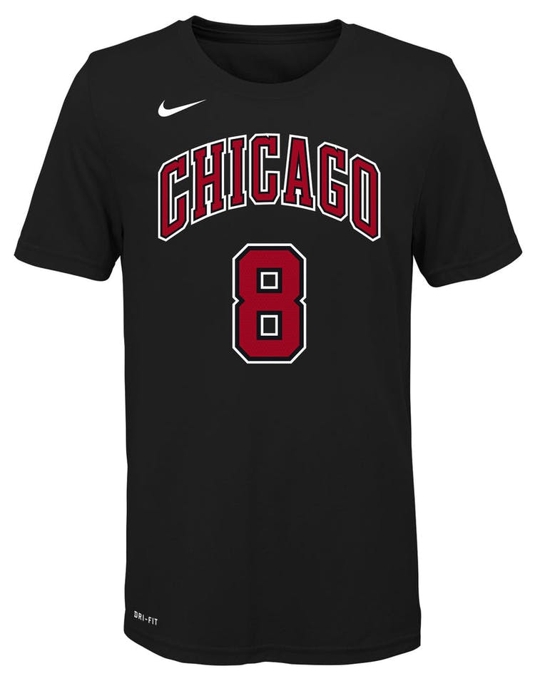 purchase cheap f80a1 fd996 Nike Boys Chicago Bulls Zach LaVine #8 Statement N&N Tee Black