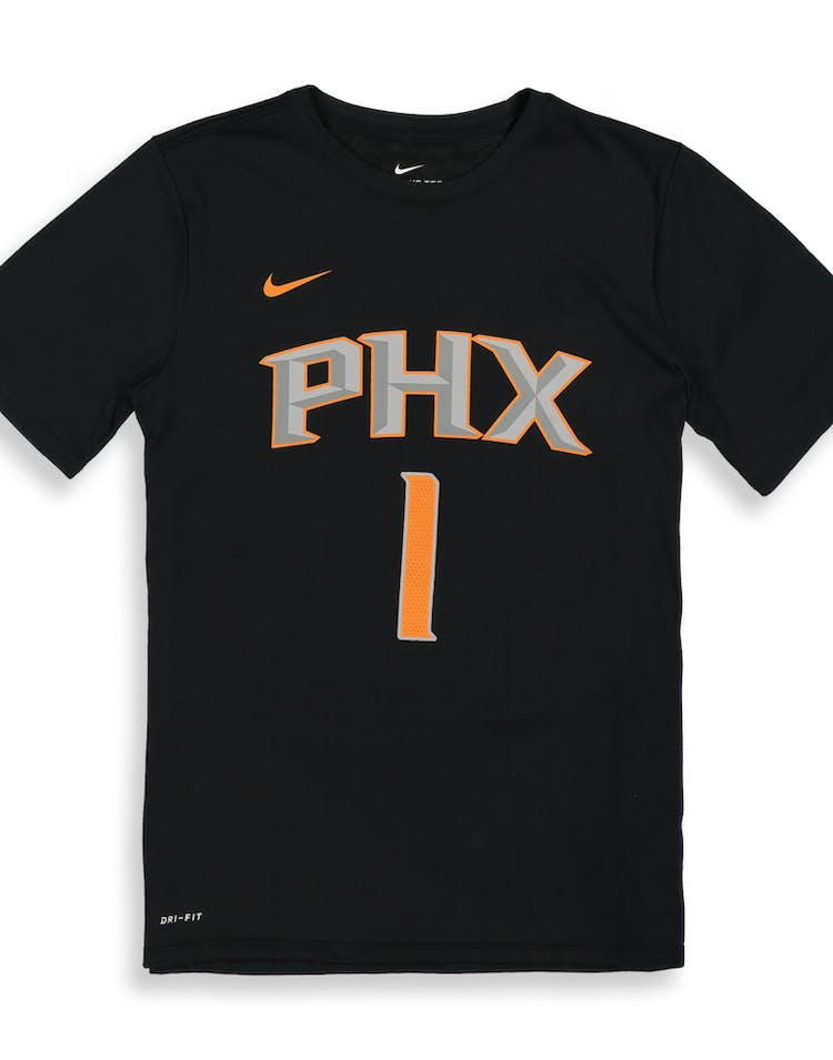buy popular e07fb c58fc Nike Boys Phoenix Suns Devin Booker #1 Statement N&N Tee Black