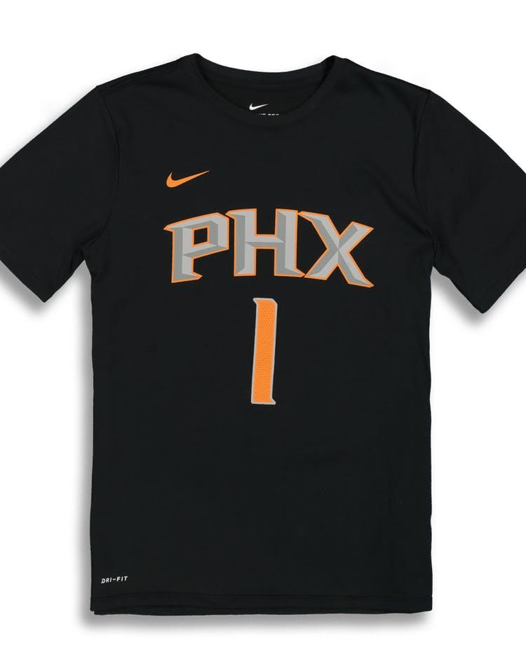 buy popular 6806c 597b1 Nike Boys Phoenix Suns Devin Booker #1 Statement N&N Tee Black