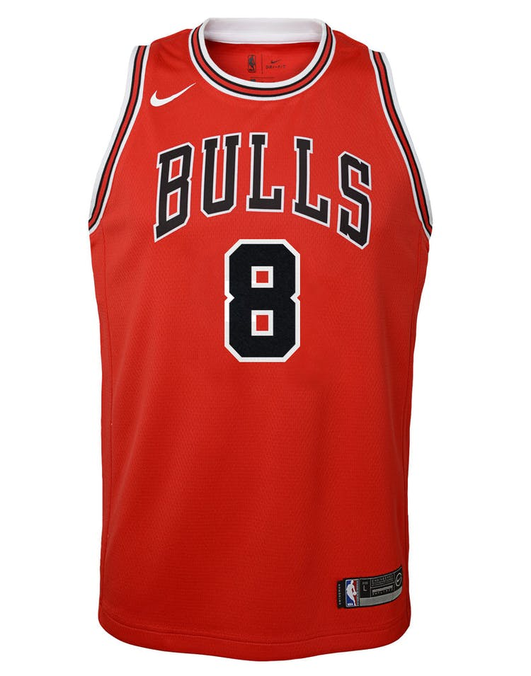 387cd34f4 Nike Kids Chicago Bulls Zach LaVine  8 Icon Swingman NBA Jersey Red –  Culture Kings