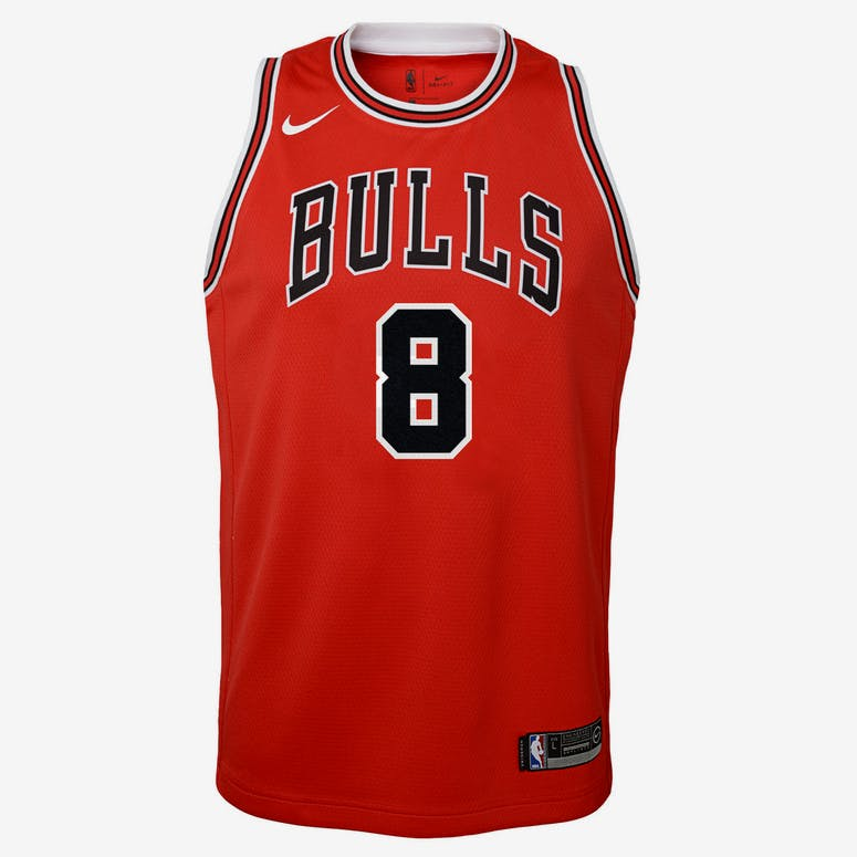 Nike Kids Chicago Bulls Zach LaVine  8 Icon Swingman NBA Jersey Red –  Culture Kings 774c9df59