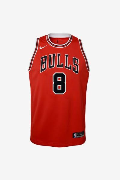 3544f333b Nike Kids Chicago Bulls Zach LaVine  8 Icon Swingman NBA Jersey Red