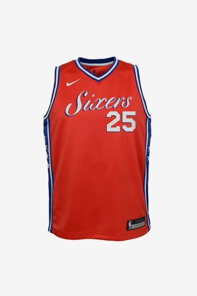 7ac837a34b0 Nike Kids Philadelphia 76ers Ben Simmons  25 Statement Swingman NBA Jersey  Red