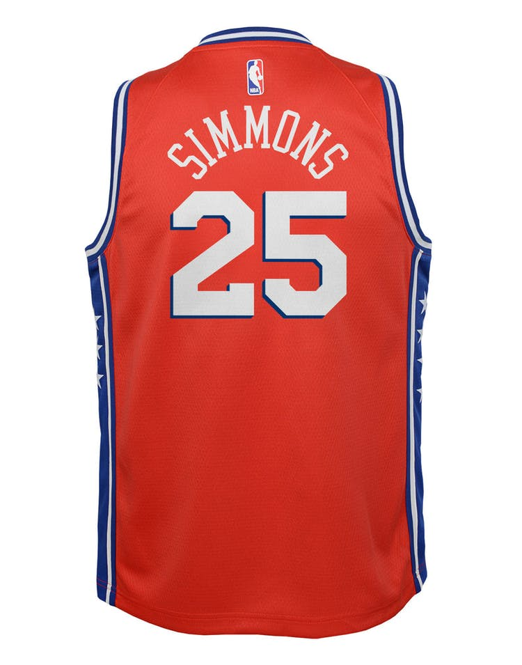 reputable site 4313e f1a4b Nike Kids Philadelphia 76ers Ben Simmons #25 Statement Swingman NBA Jersey  Red