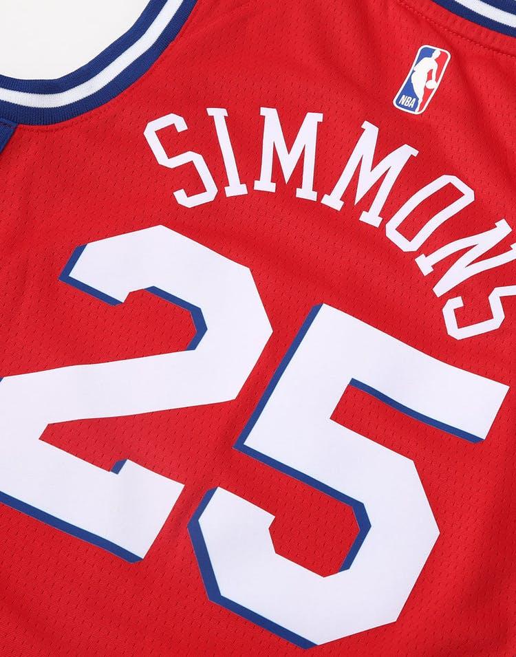 reputable site 1dfe4 b1c0b Nike Kids Philadelphia 76ers Ben Simmons #25 Statement Swingman NBA Jersey  Red