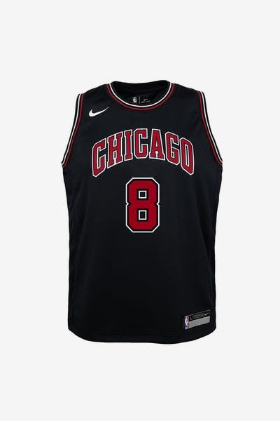 4e443861f Nike Kids Chicago Bulls Zach Lavine  8 Icon Swingman NBA Jersey Black