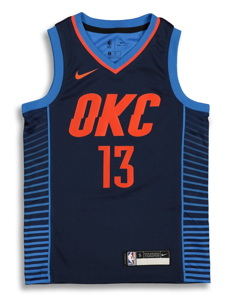 cb63ebbdb626 Nike Kids Oklahoma City Thunder Paul George  13 Statement Swingman NBA –  Culture Kings