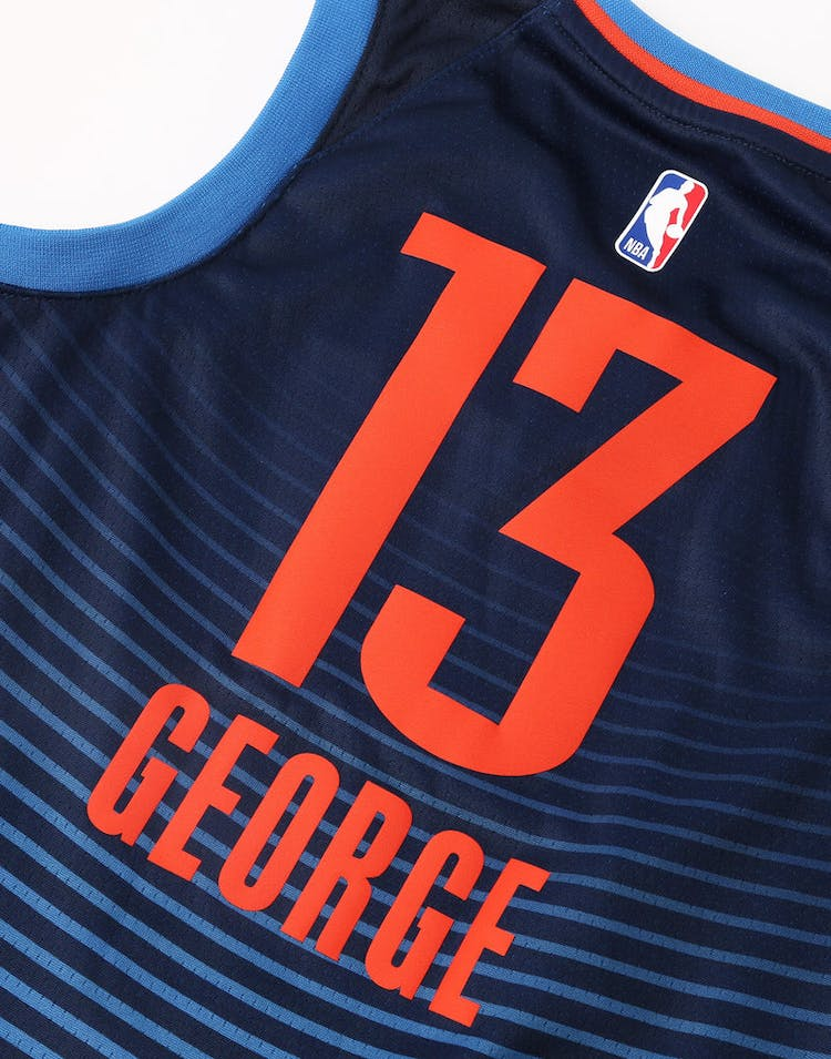 Nike Kids Oklahoma City Thunder Paul George #13 Statement Swingman NBA Jersey Navy