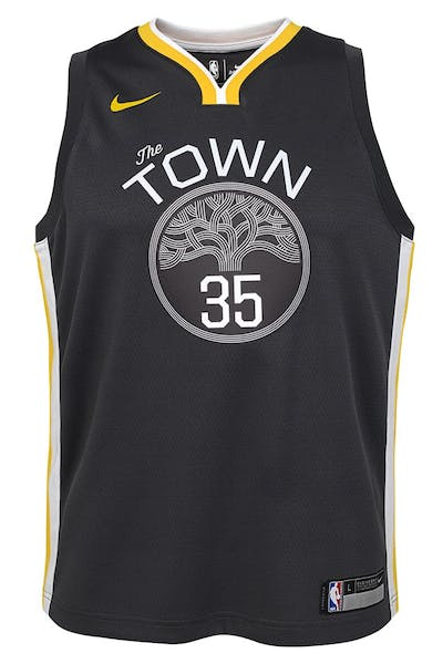 Nike Kids Golden State Warriors Kevin Durant #35 Icon Swingman NBA Jersey Grey