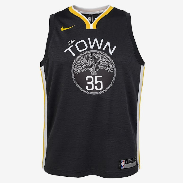 ca6ef5ece Nike Kids Golden State Warriors Kevin Durant  35 Icon Swingman NBA Jer –  Culture Kings