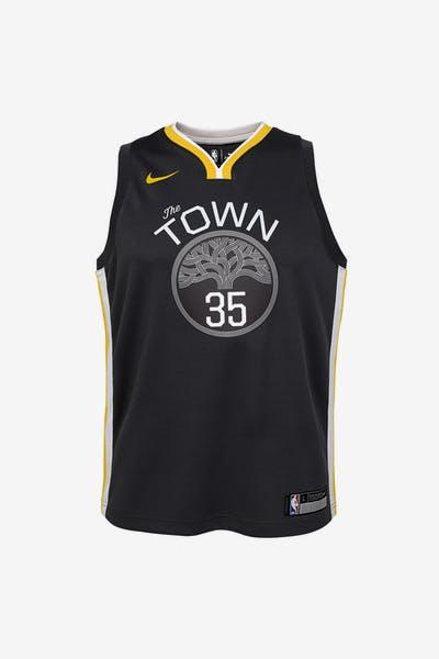 Nike Kids Golden State Warriors Kevin Durant  35 Icon Swingman NBA Jersey  Grey cb740f055