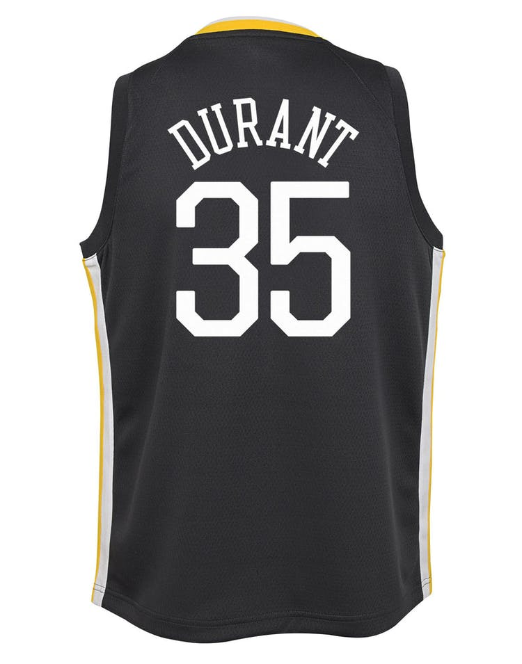 fd20bcf7d1e Nike Kids Golden State Warriors Kevin Durant  35 Icon Swingman NBA Jersey  Grey