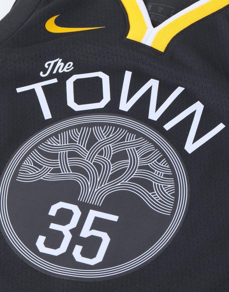 4b47b23d5c8 Nike Kids Golden State Warriors Kevin Durant #35 Icon Swingman NBA Jersey  Grey