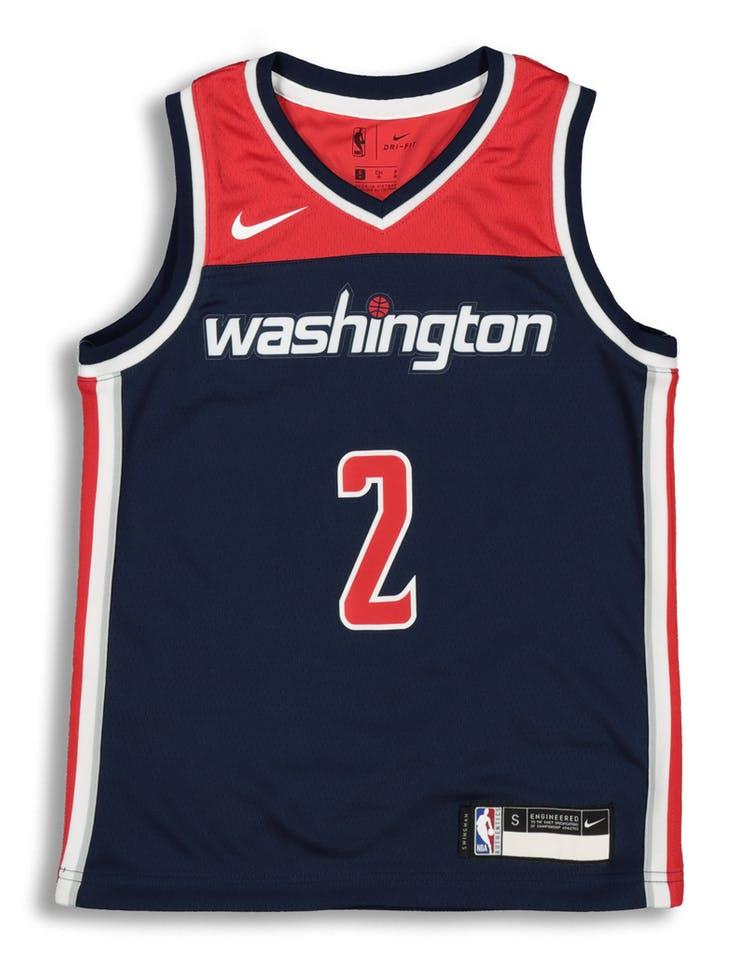 best service 0793f 4299a Nike Kids Washington Wizards John Wall  2 Statement Swingman NBA Jerse –  Culture Kings