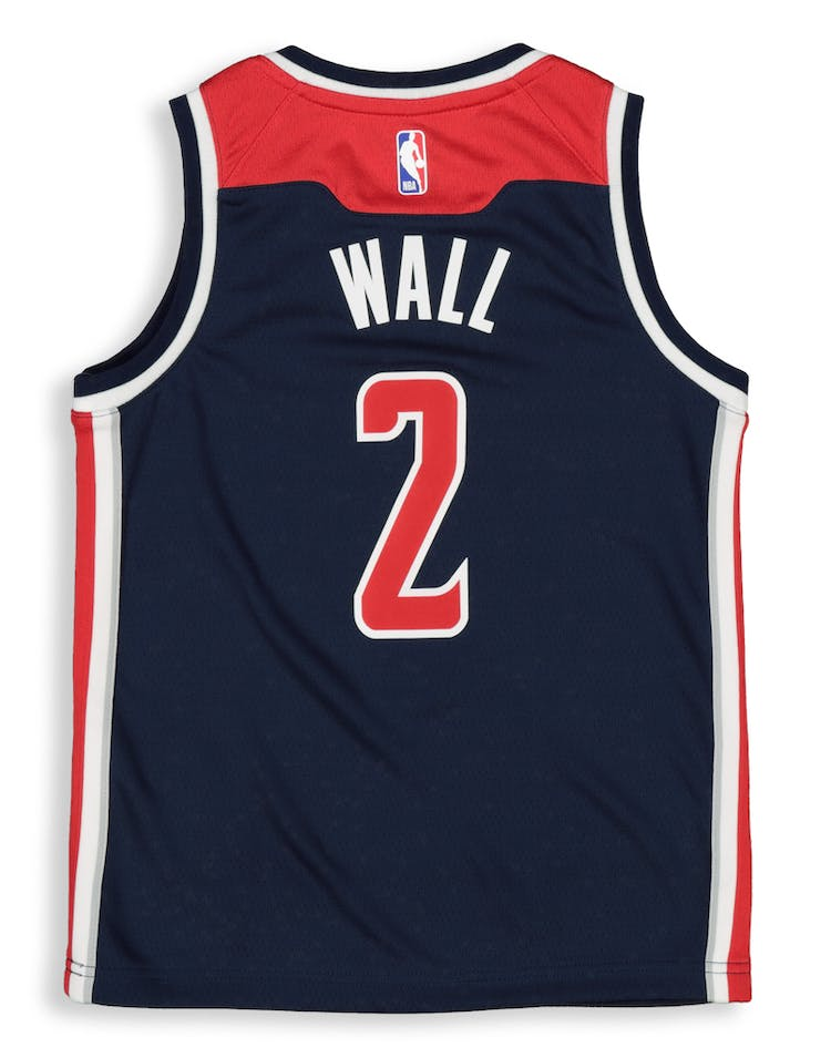 watch 41272 358c5 Nike Kids Washington Wizards John Wall #2 Statement Swingman NBA Jersey Navy