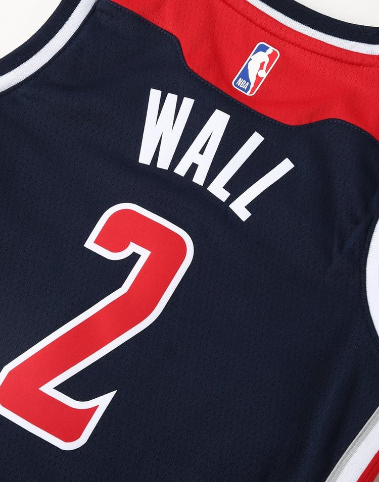 watch 493df 882f7 Nike Kids Washington Wizards John Wall #2 Statement Swingman NBA Jersey Navy