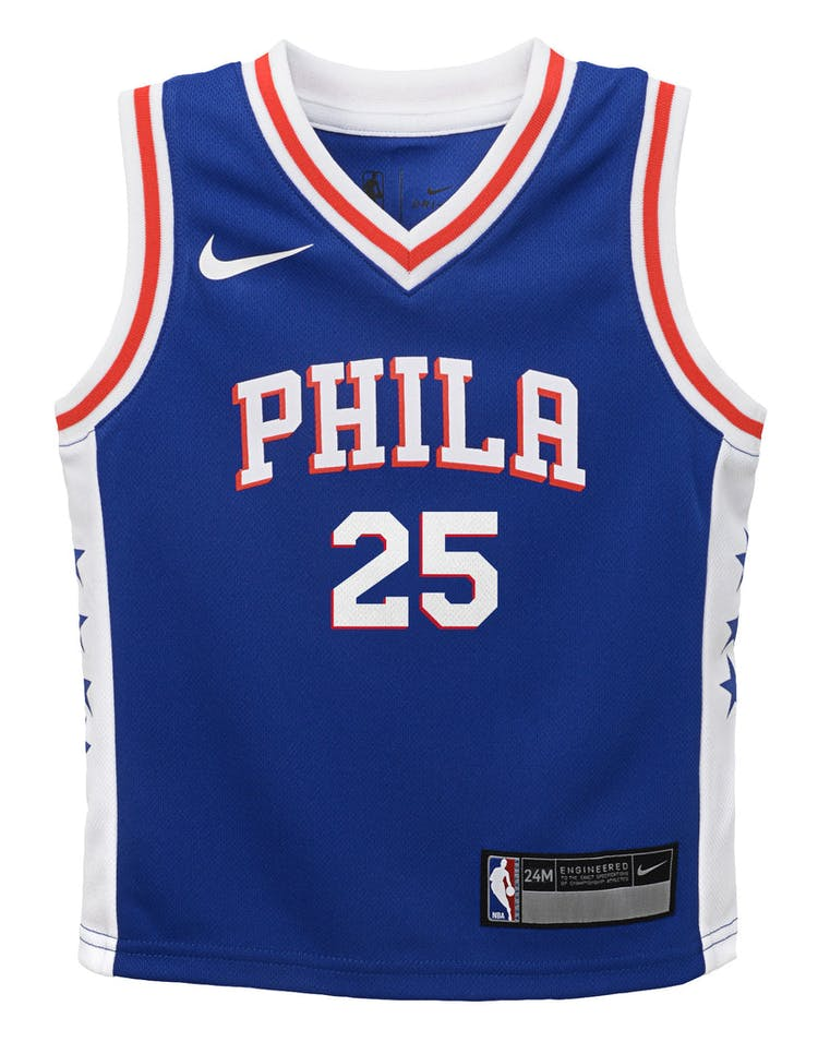 san francisco 00782 c2d8f Nike Infant Philadelphia 76ers Ben Simmons #25 Icon Replica NBA Jersey Blue