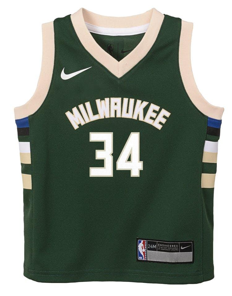 66a0c94c3dd Nike Infant Milwaukee Bucks Giannis Antetokounmpo  34 Icon Replica NBA –  Culture Kings