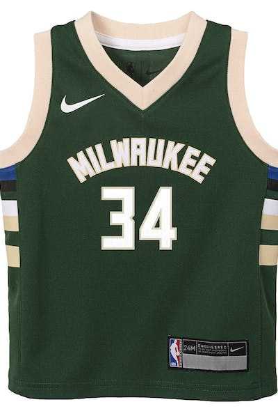 feb83de05d2 Nike Infant Milwaukee Bucks Giannis Antetokounmpo  34 Icon Replica NBA  Jersey Green