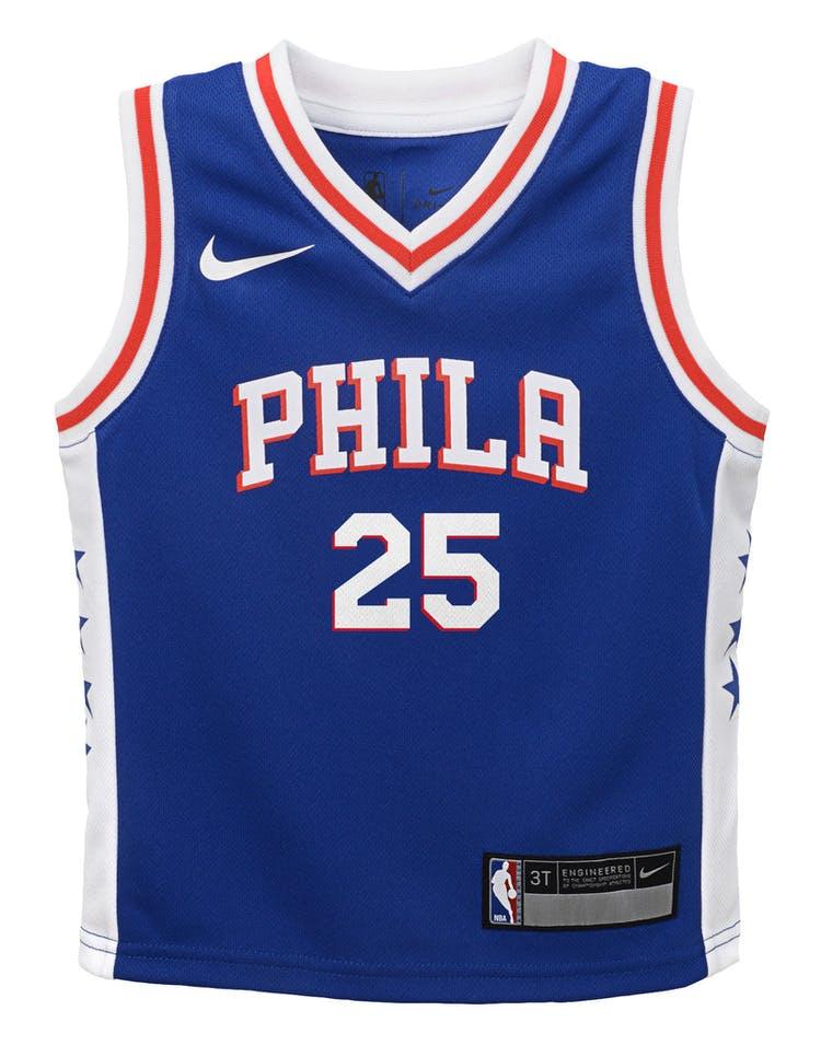 new product 485ba dc882 Nike Toddler Philadelphia 76ers Ben Simmons #25 Icon Replica NBA Jersey Blue