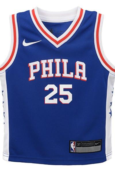 18130fe98580 Nike Toddler Philadelphia 76ers Ben Simmons  25 Icon Replica NBA Jersey Blue