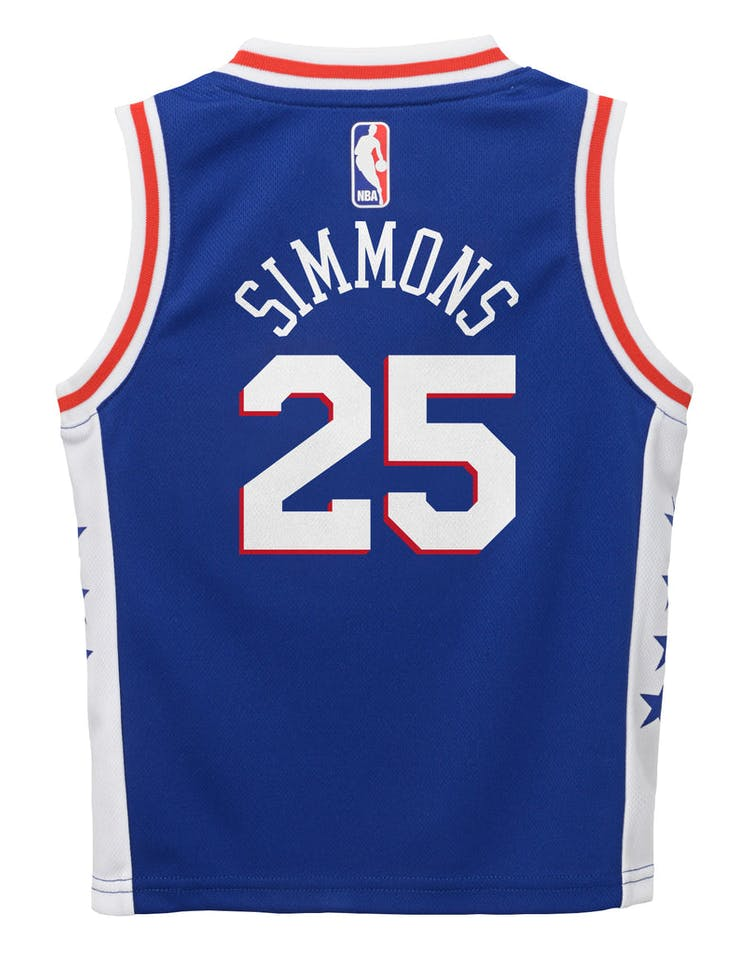 new product 67cfa 41cec Nike Toddler Philadelphia 76ers Ben Simmons #25 Icon Replica NBA Jersey Blue