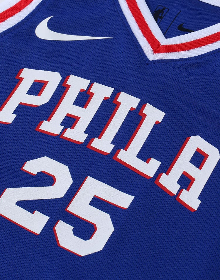 new product 69a64 ecb12 Nike Toddler Philadelphia 76ers Ben Simmons #25 Icon Replica NBA Jersey Blue
