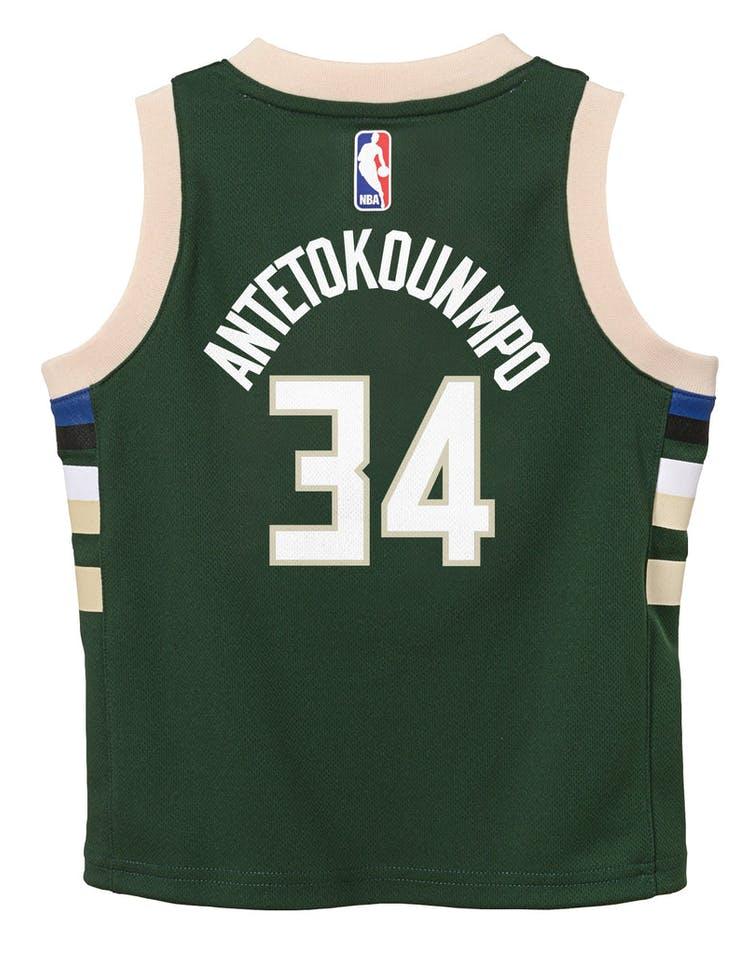 timeless design cccc4 e1dc2 Nike Toddler Milwaukee Bucks Giannis Antetokounmpo #34 Icon Replica NBA  Jersey Green