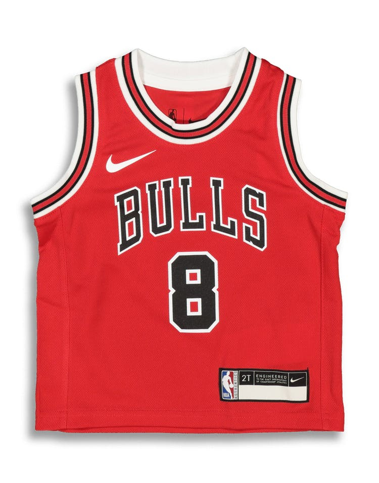 buy online 4077c 4ac43 Nike Toddler Chicago Bulls Zach LaVine #8 Icon Replica NBA Jersey Red