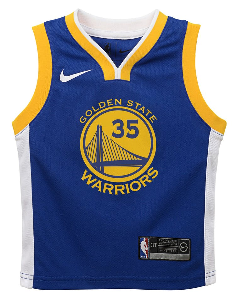 f805b5493 Nike Toddler Golden State Warriors Kevin Durant #35 Icon Replica NBA J –  Culture Kings