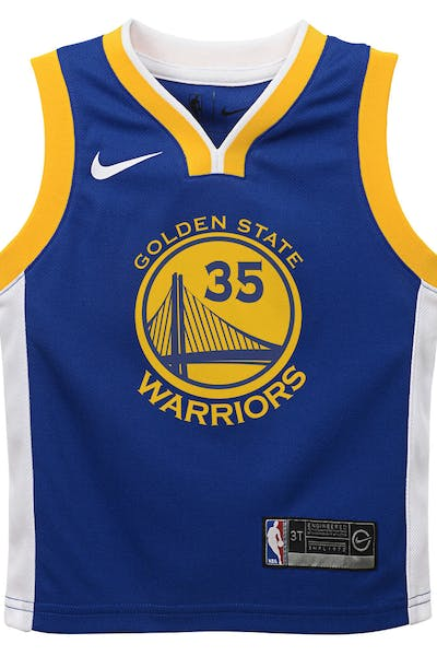 39cd910af Nike Toddler Golden State Warriors Kevin Durant #35 Icon Replica NBA Jersey  Royal ...