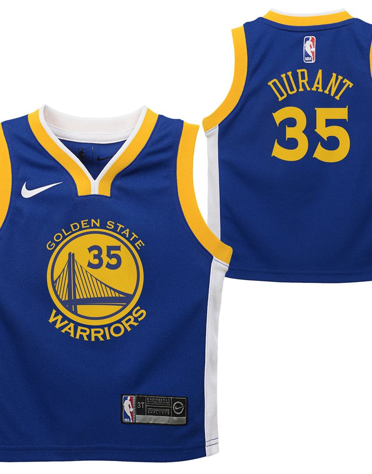 cheaper f1aaa 95640 Nike Toddler Golden State Warriors Kevin Durant #35 Icon Replica NBA Jersey  Royal