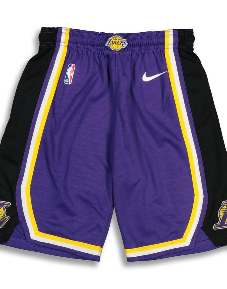 0f42d54b3 Nike Kids Los Angeles Lakers Statement Swingman Short Purple – Culture Kings
