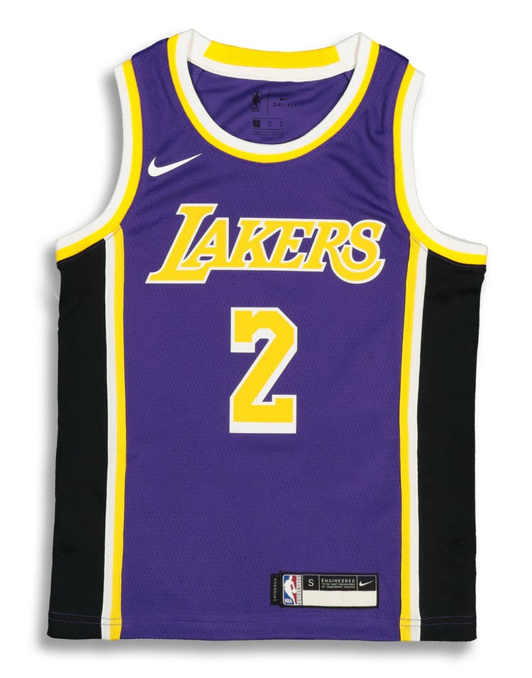 600e7bd7c97 Nike Kids Los Angeles Lakers Lonzo Ball  2 Statement Swingman NBA Jers –  Culture Kings