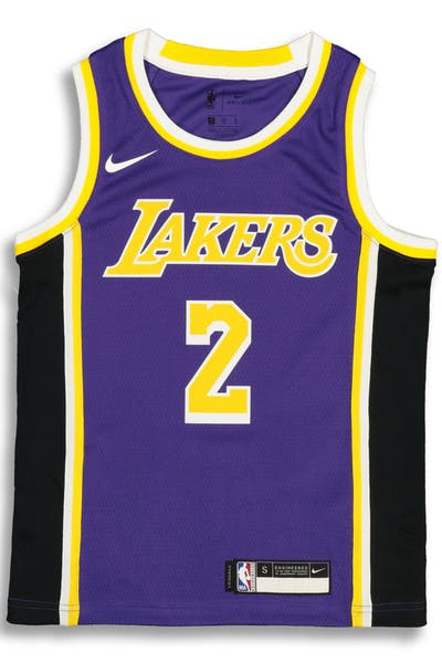 084ebdc4693 Nike Kids Los Angeles Lakers Lonzo Ball  2 Statement Swingman NBA Jersey  Purple