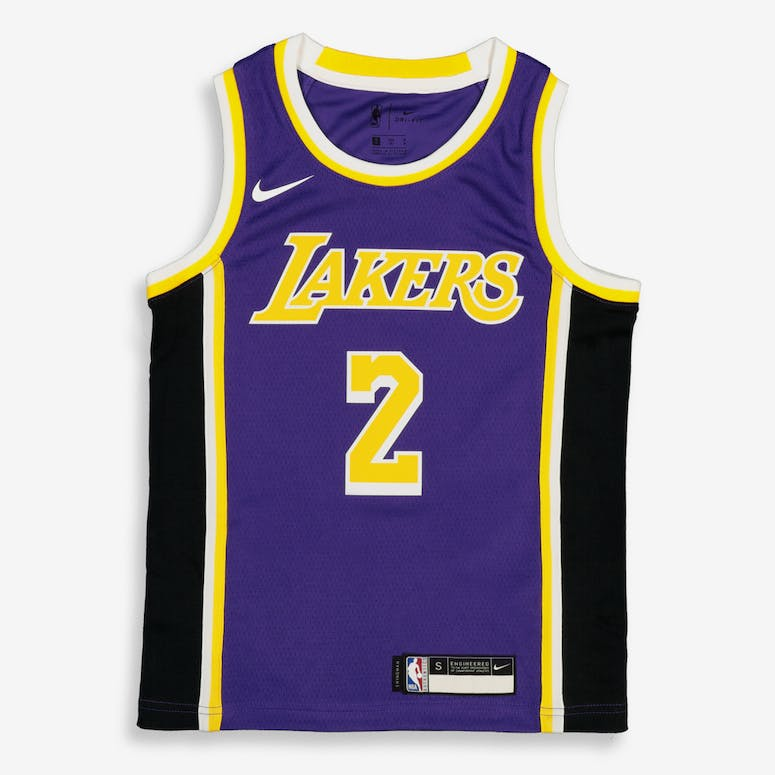 55fae4d84 Nike Kids Los Angeles Lakers Lonzo Ball  2 Statement Swingman NBA Jers –  Culture Kings