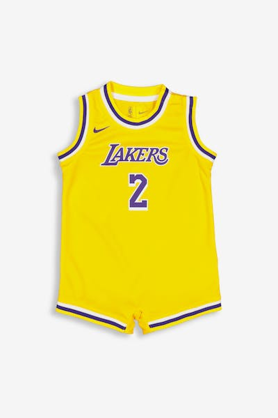Nike Infant Los Angeles Lakers Lonzo Ball #2 Replica Onesie NBA Jersey Yellow